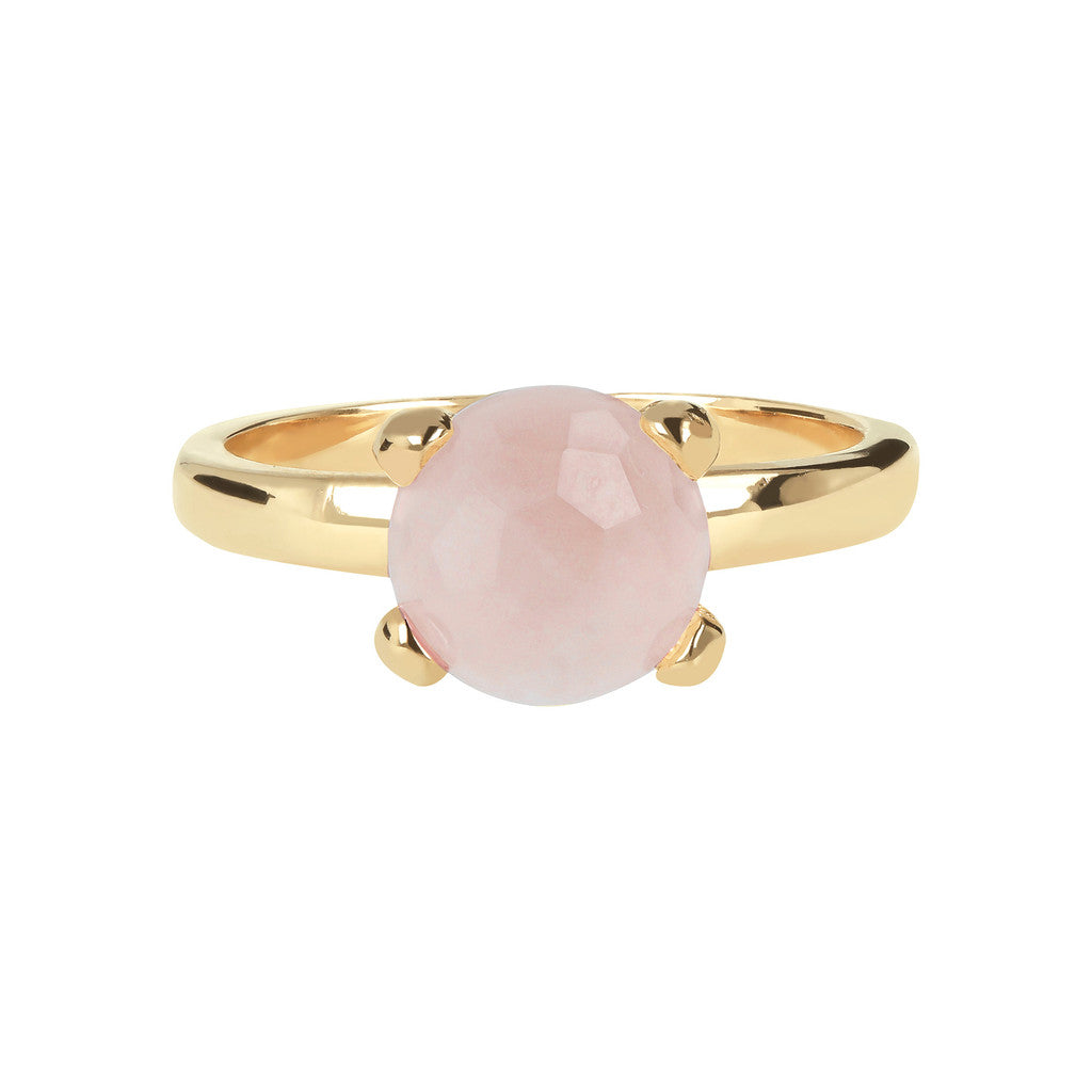 FELICIA BRONZALLURE GOLDEN   BRIOLe' FACETED GEMSTONE RING - WSBZ00949Y ROSE QUARTZ setting