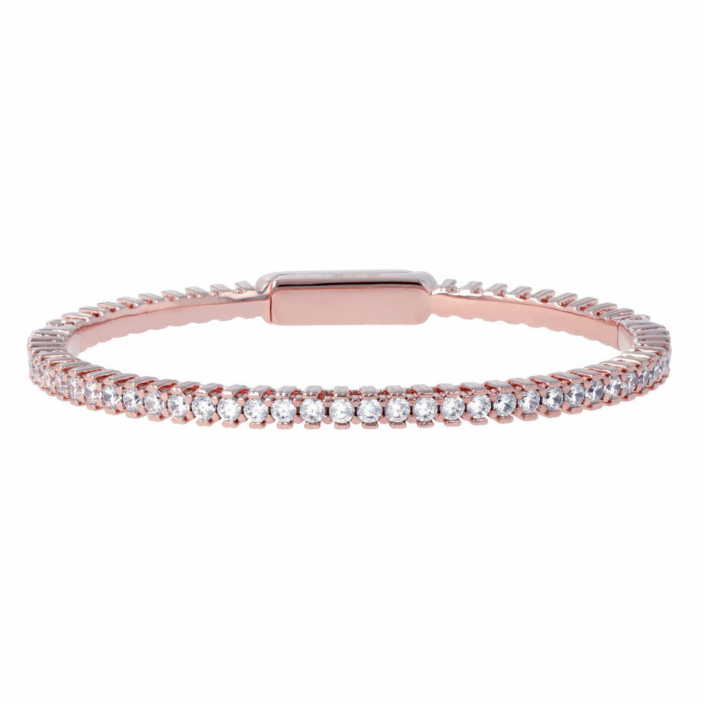 Flexible Tennis bangle  CUBIC ZIRCONIA
