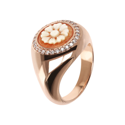 Bronzallure | Rings | Flower Cameo Ring
