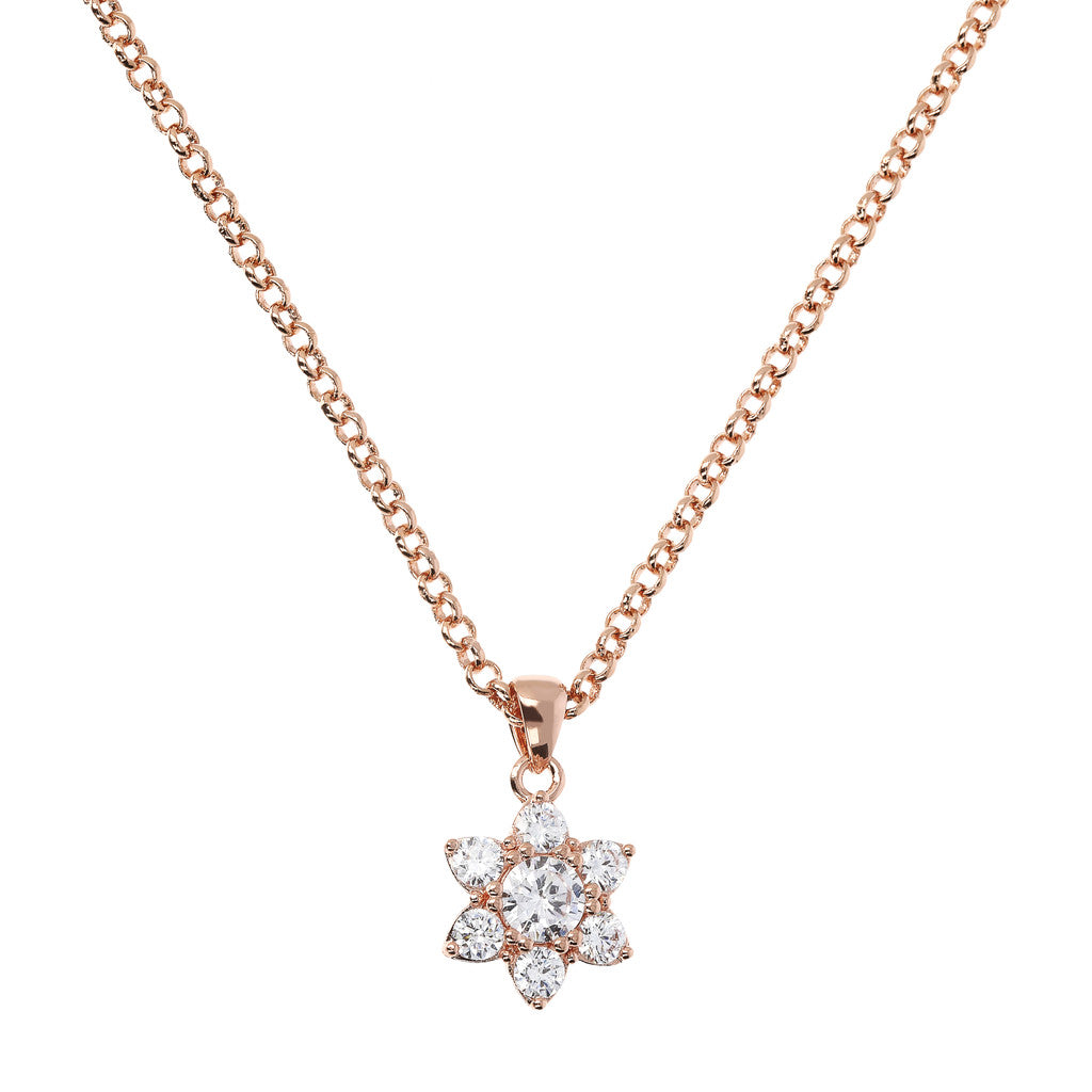 Bronzallure | Necklaces | Flower Necklace with CZ