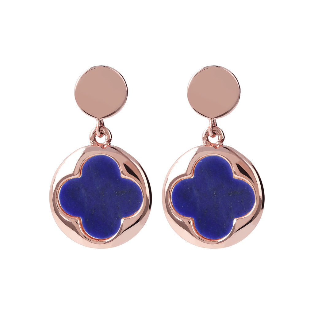 Four Leaf Clover Dangle Earrings LAPIS