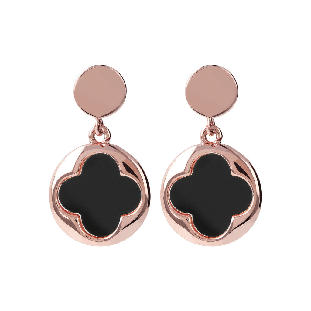 Bronzallure | Earrings | Four Leaf Clover Dangle Earrings