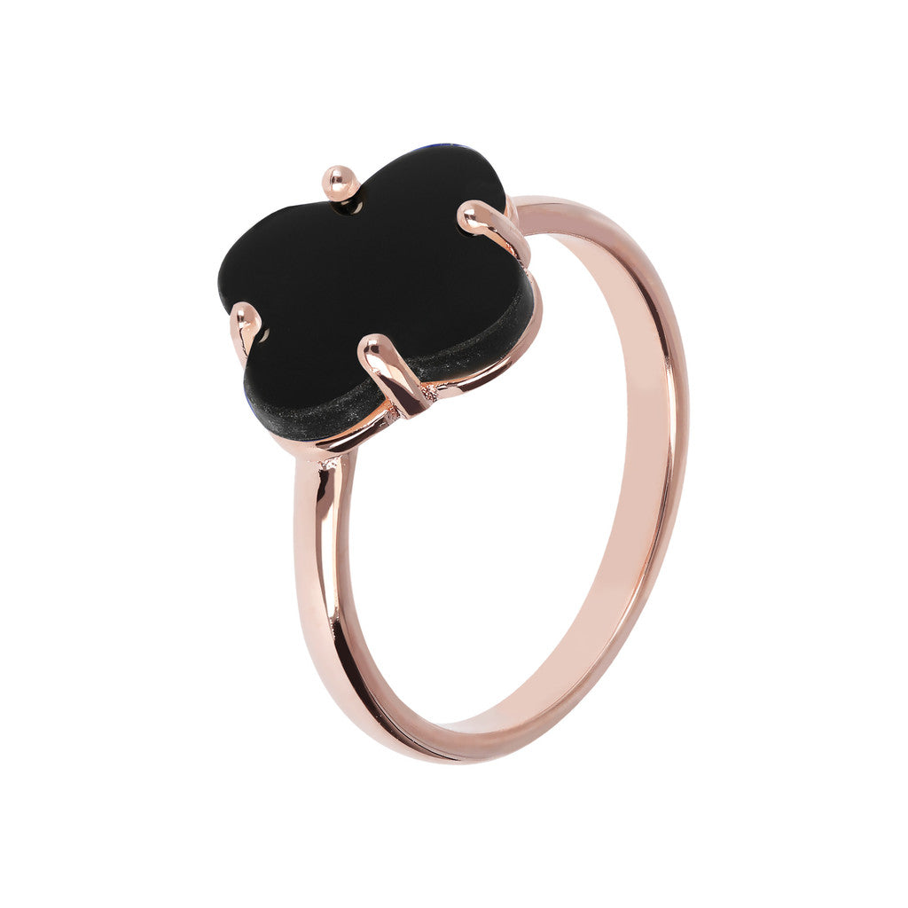 Four Leaf Clover Ring  BLACK ONYX