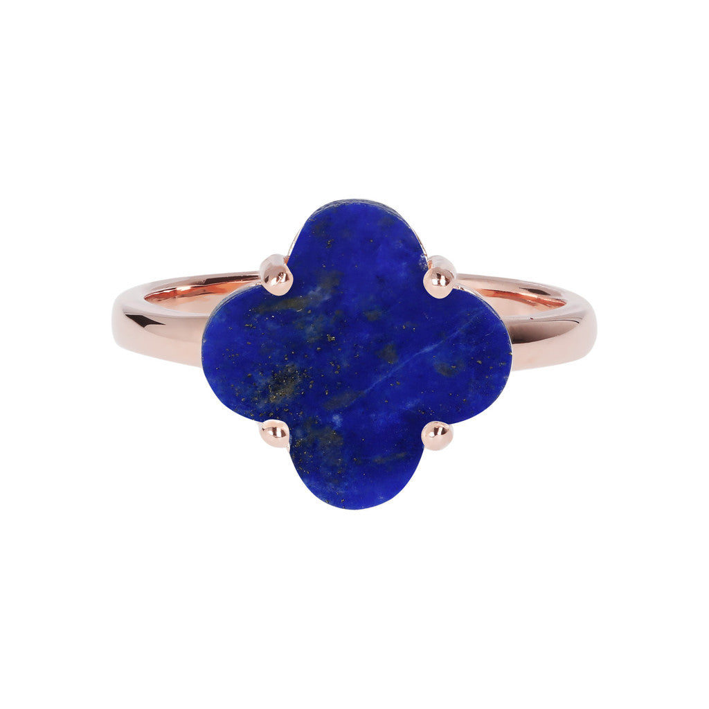 Four Leaf Clover Ring  LAPIS setting