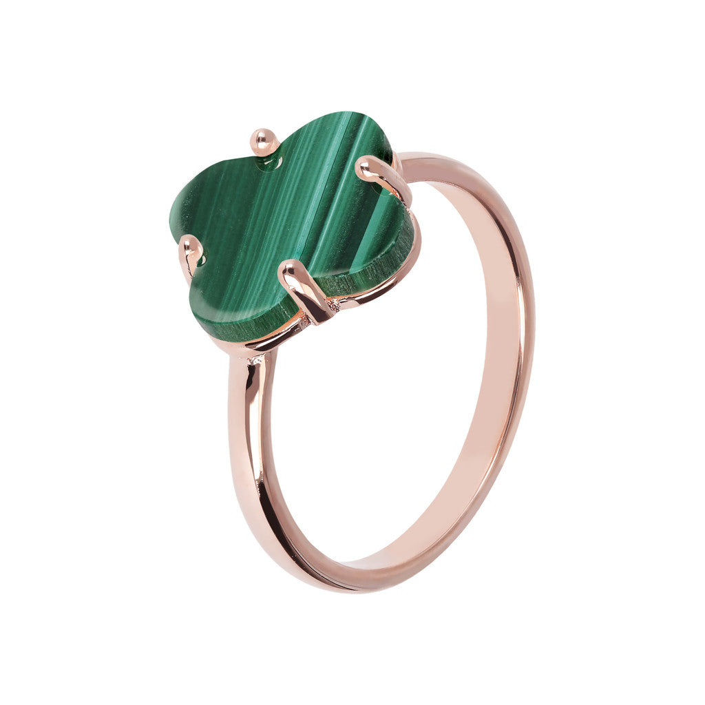 Four Leaf Clover Ring  MALACHITE