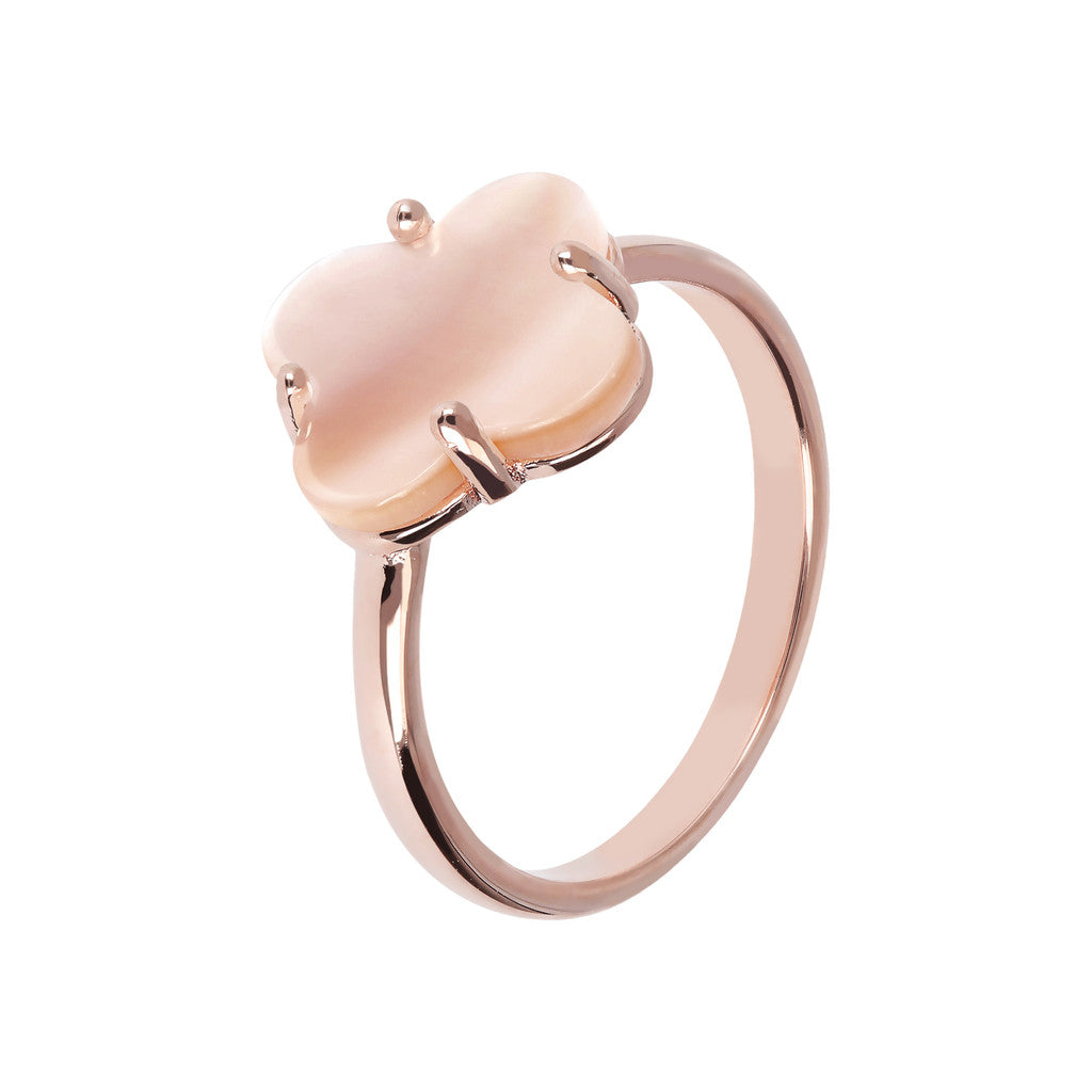 Four Leaf Clover Ring PINK MOP