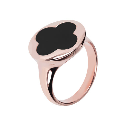 Bronzallure | Rings | Four Leaf Clover Seal Ring