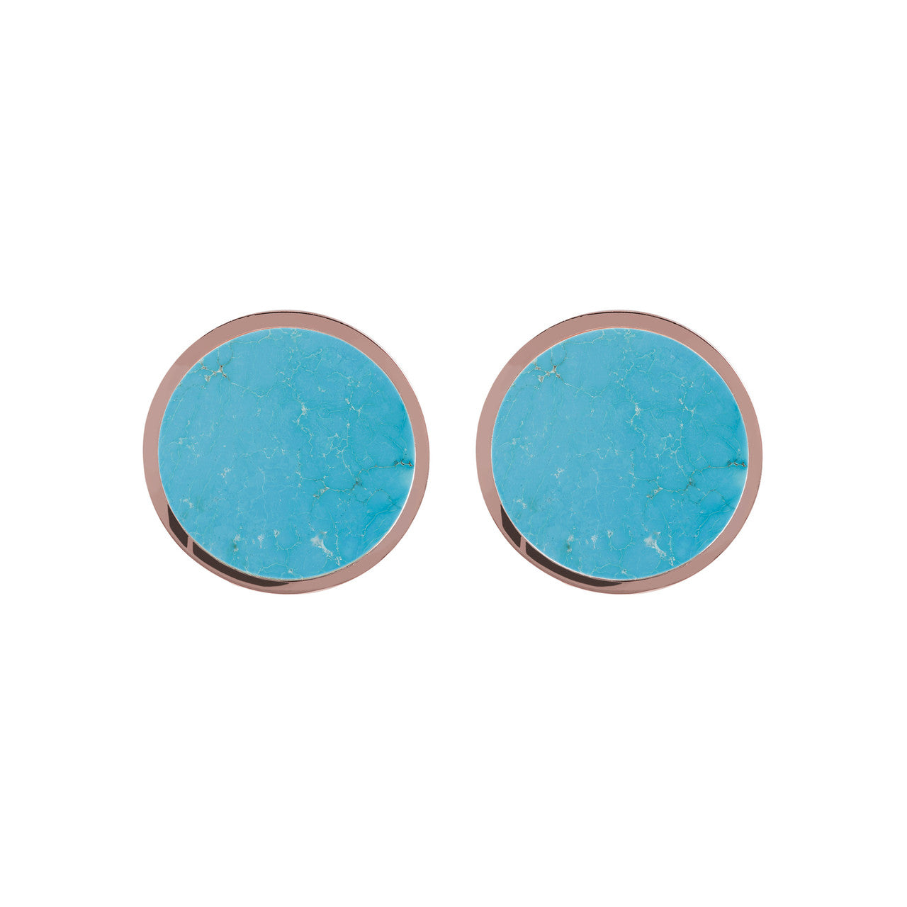 Gemstone Button Earrings MAGNESITE