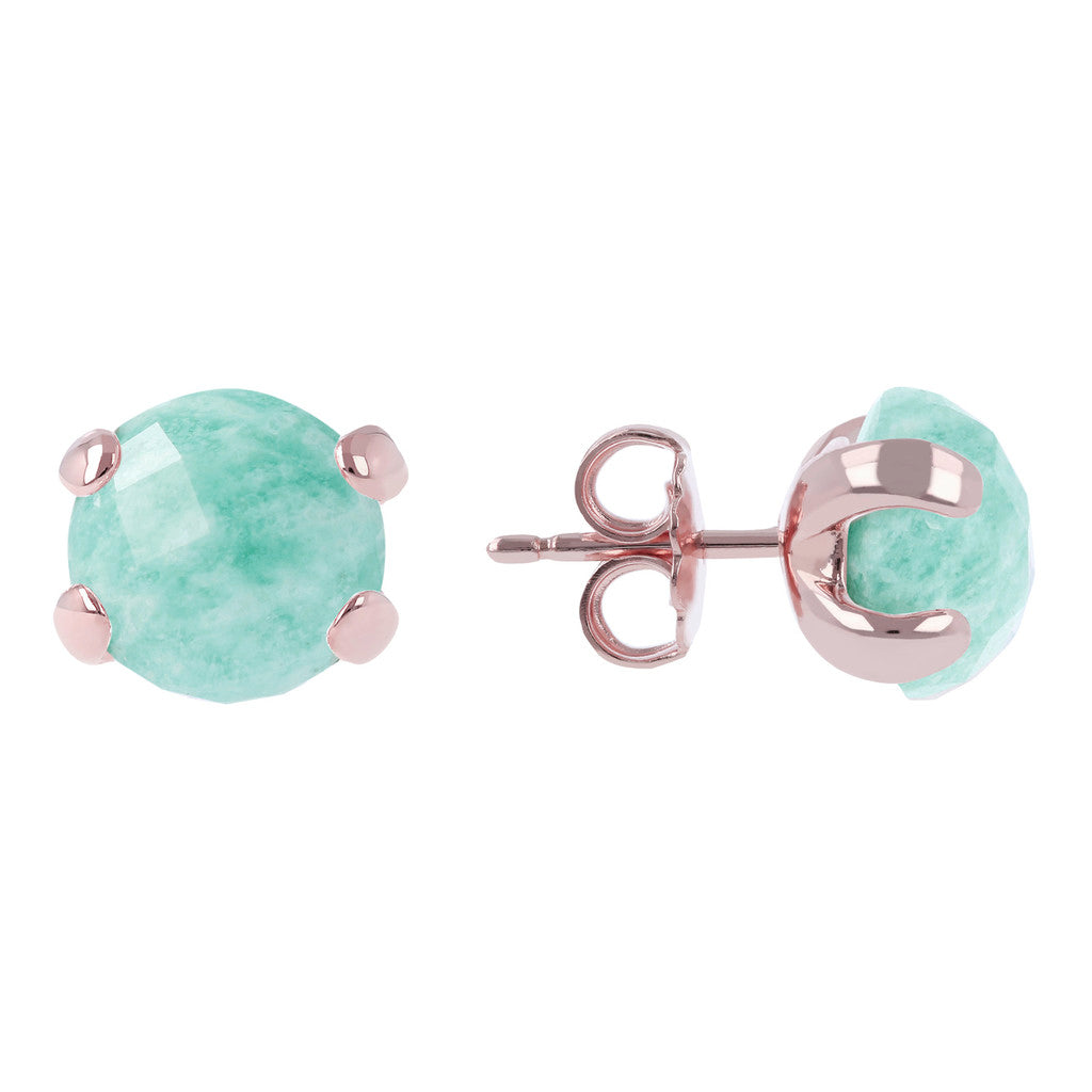 Gemstone Stud Earrings AMAZZONITE