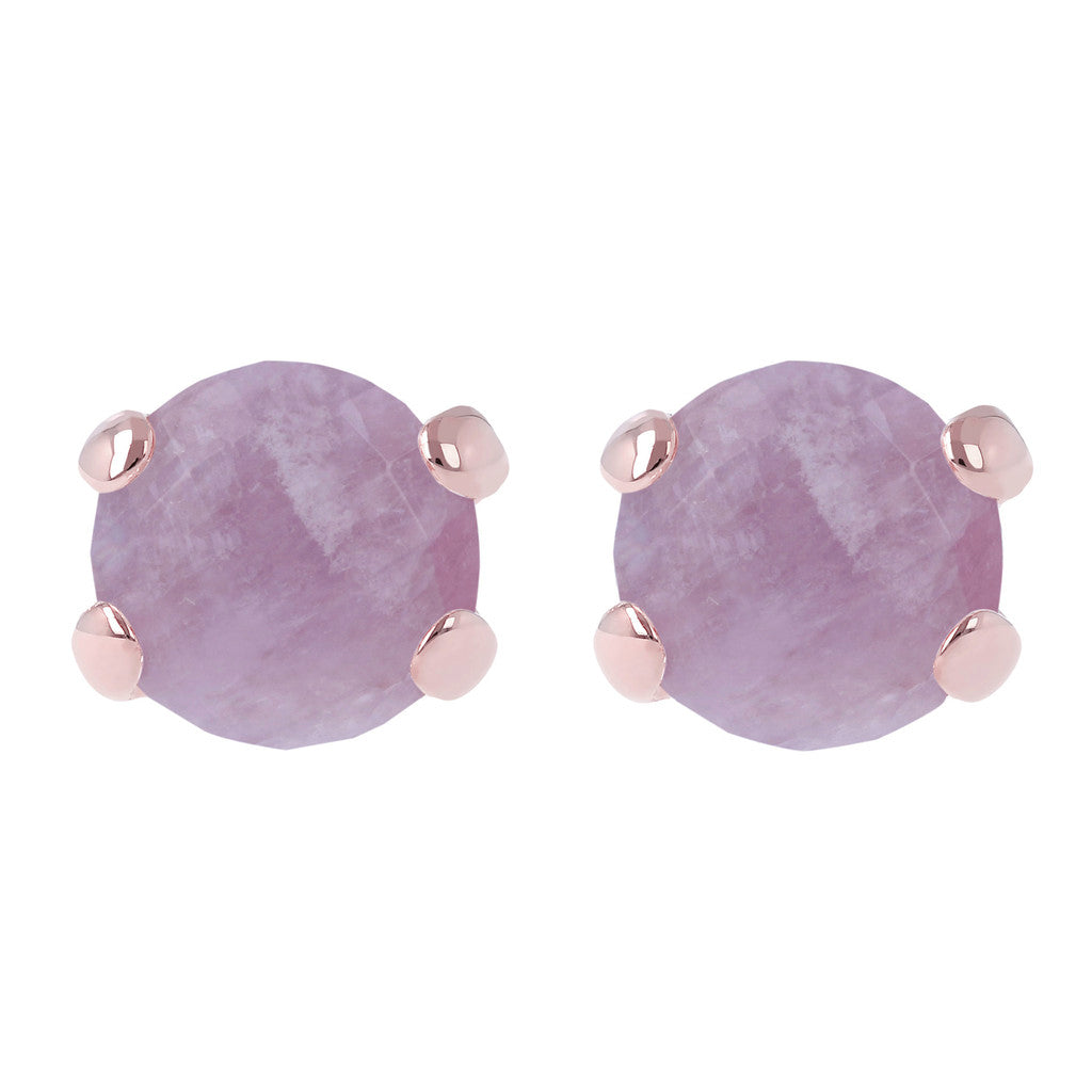 Gemstone Stud Earrings AMETHYST