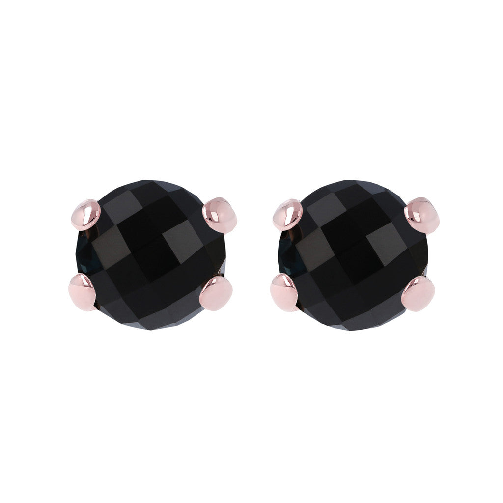 Gemstone Stud Earrings BLACK ONYX