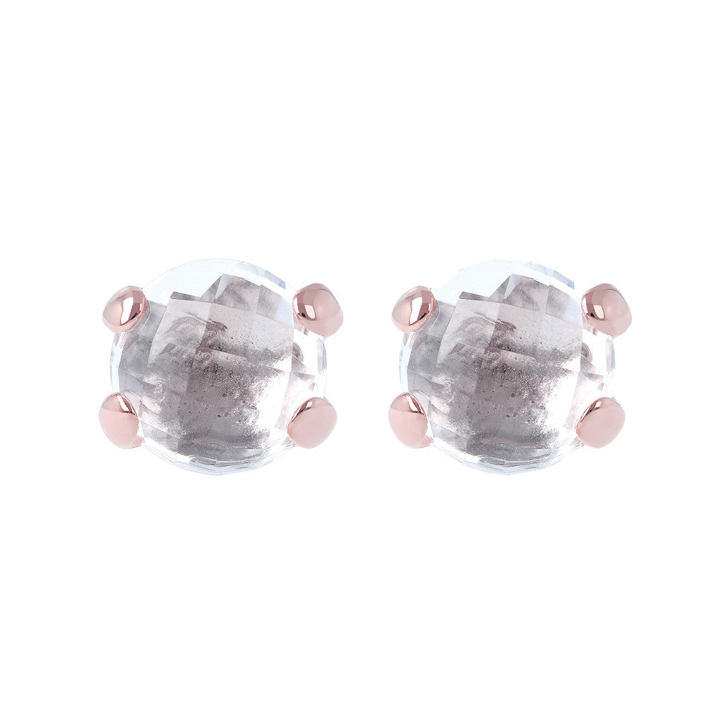 Gemstone Stud Earrings CRYSTAL QUARTZ