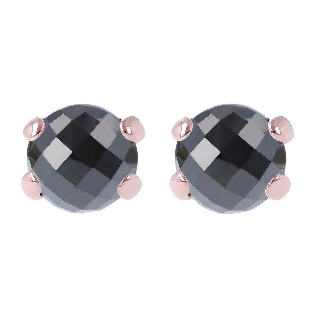 Gemstone Stud Earrings HEMATITE