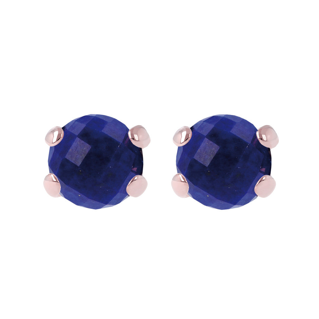 Gemstone Stud Earrings LAPIS