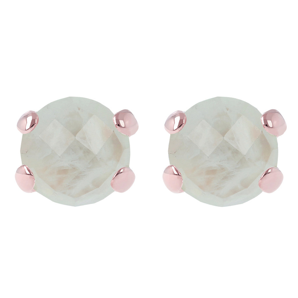 Gemstone Stud Earrings PREHNITE
