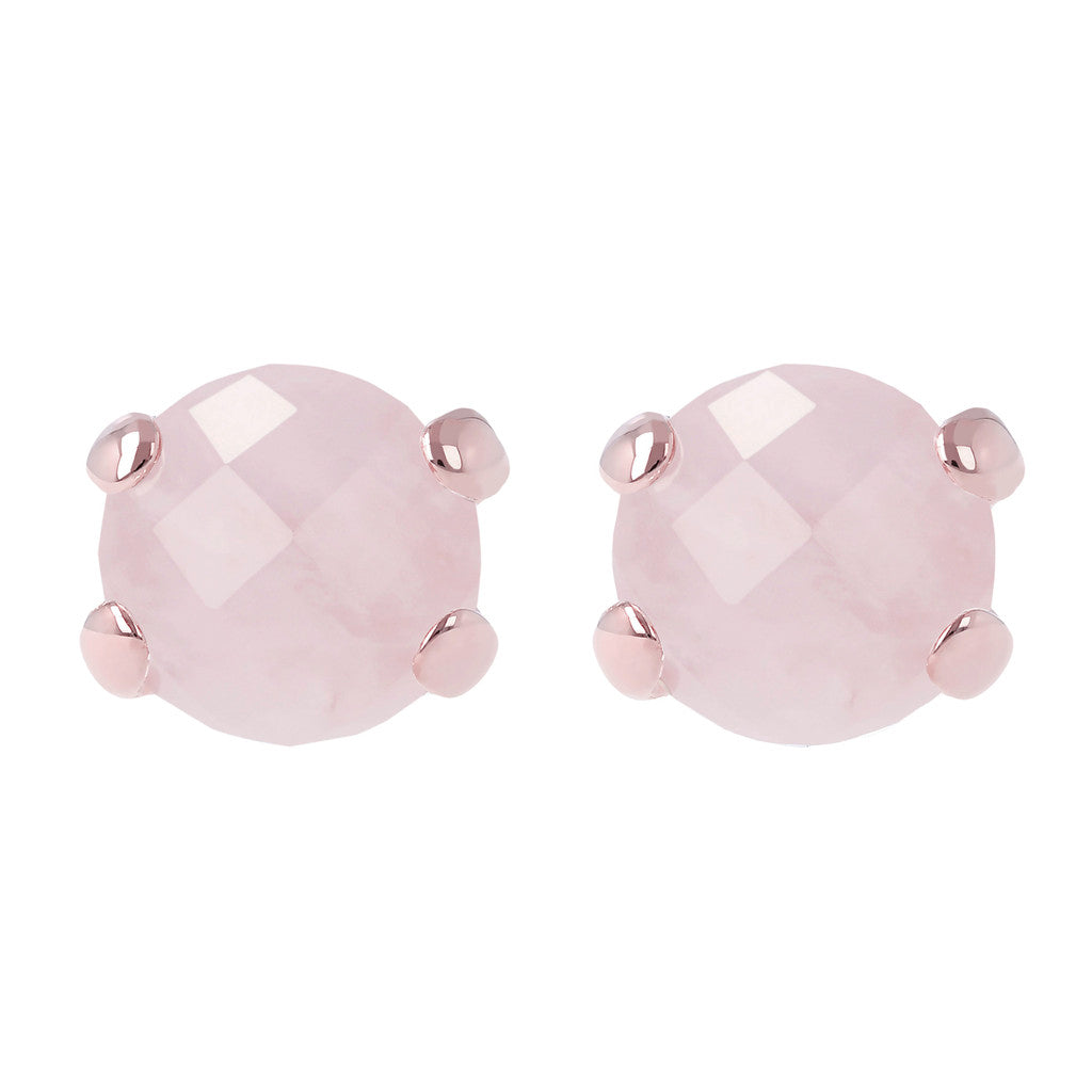 Gemstone Stud Earrings ROSE QUARTZ