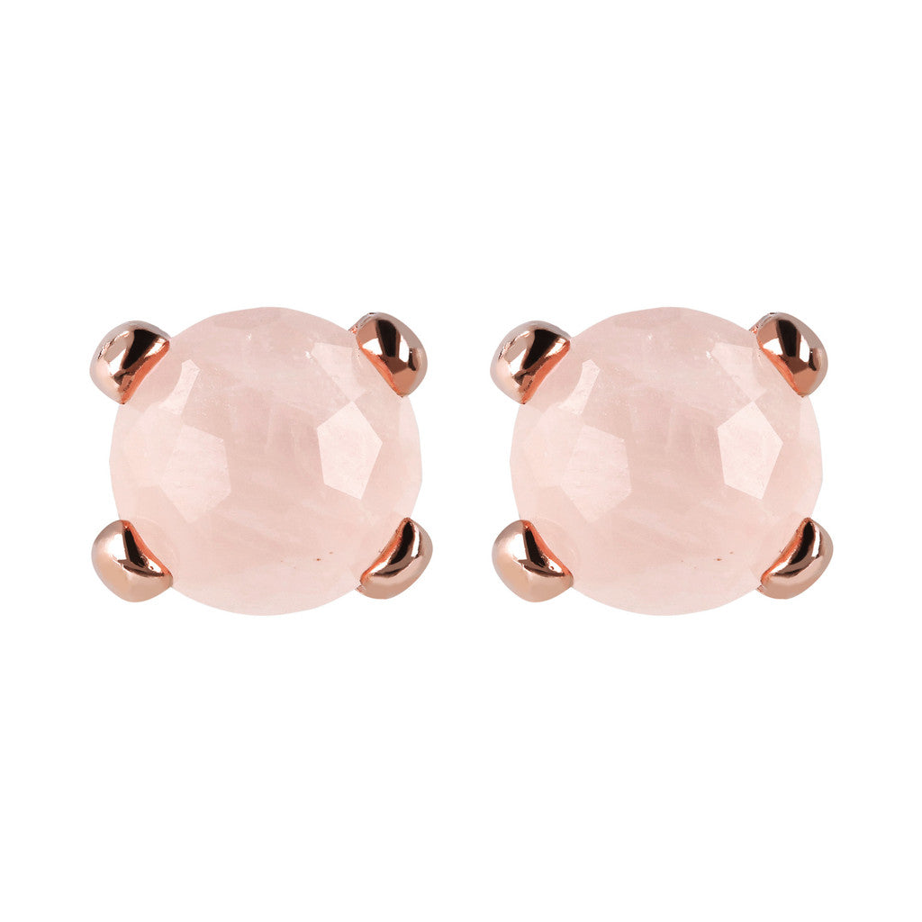 Gemstone Stud Earrings Small ROSE QUARTZ