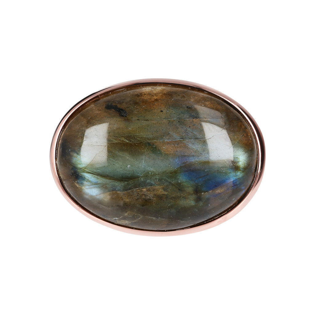 Genuine Gemstone Cabochon Ring LABRADORITE setting