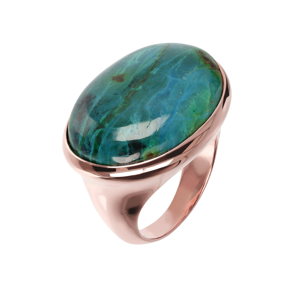 Genuine Gemstone Cabochon Ring