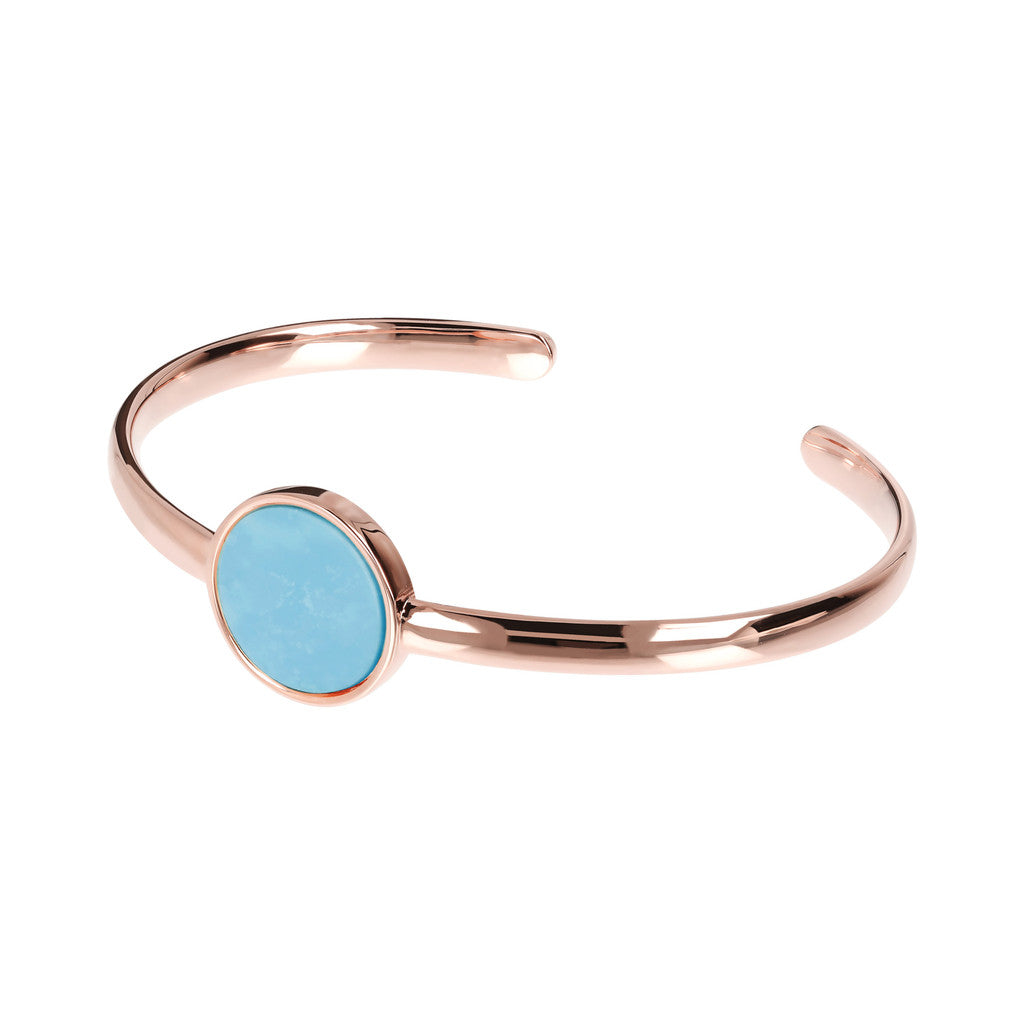 Genuine Gemstone Charm Open Bangle MAGNESITE