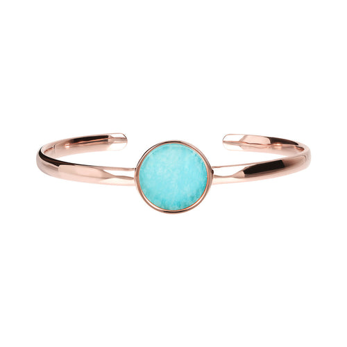 Genuine Gemstone Charm Open Bangle side