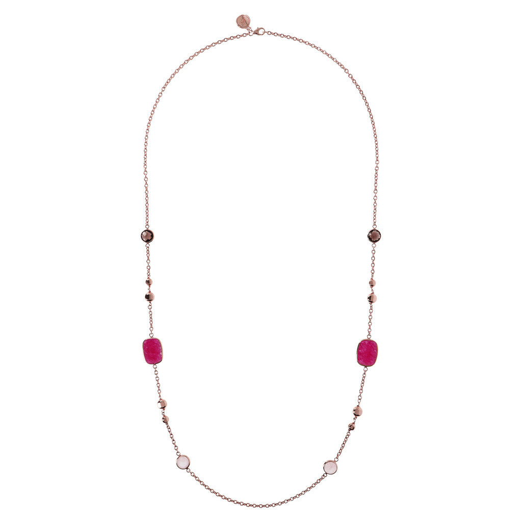 Genune Gemstone Stationary Necklace from above
