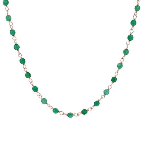 Green Agate Amorette Necklace