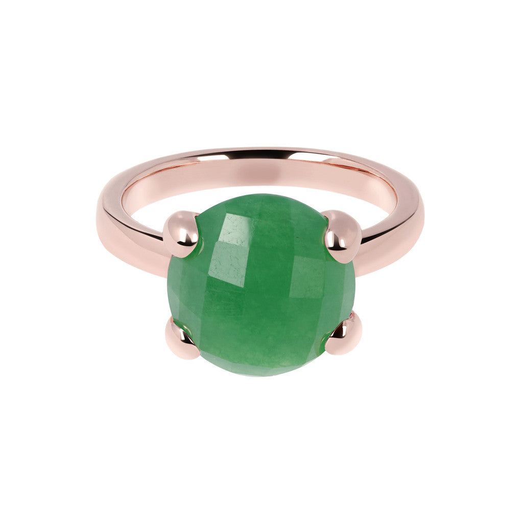 Green Chalcedony Cocktail Ring GREEN CHALCEDONY setting