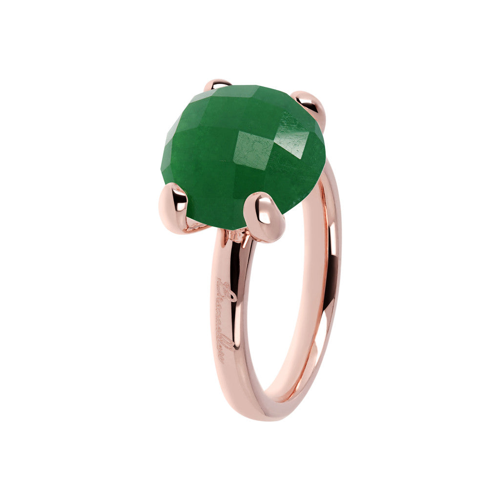 Green Chalcedony Cocktail Ring