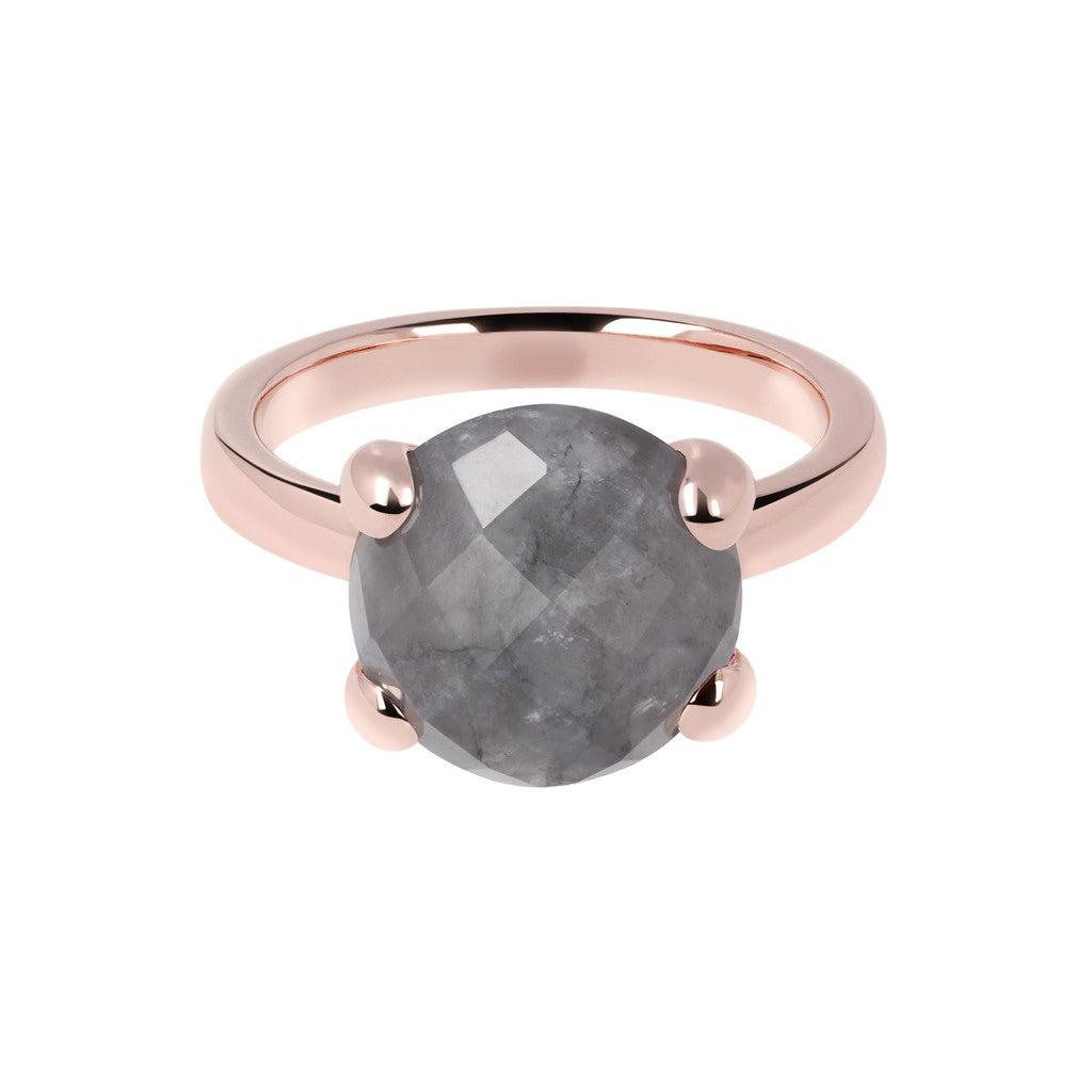Grey Quartz Cocktail Ring GREY QUARTZ setting