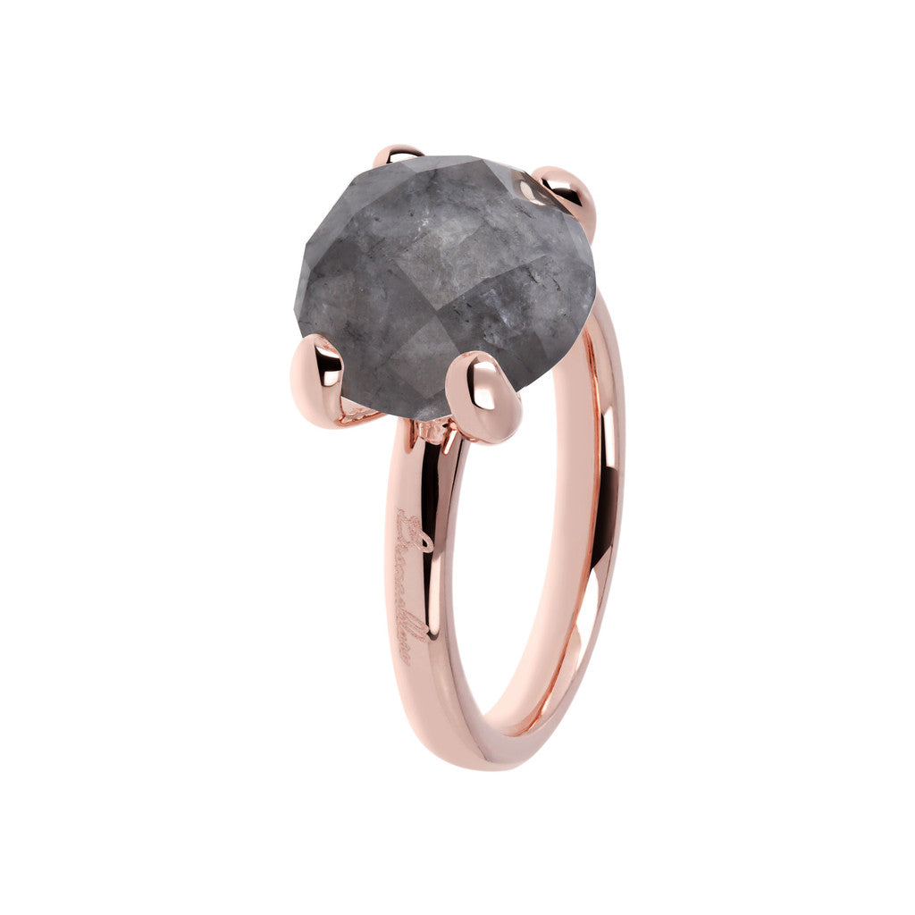 Grey Quartz Cocktail Ring