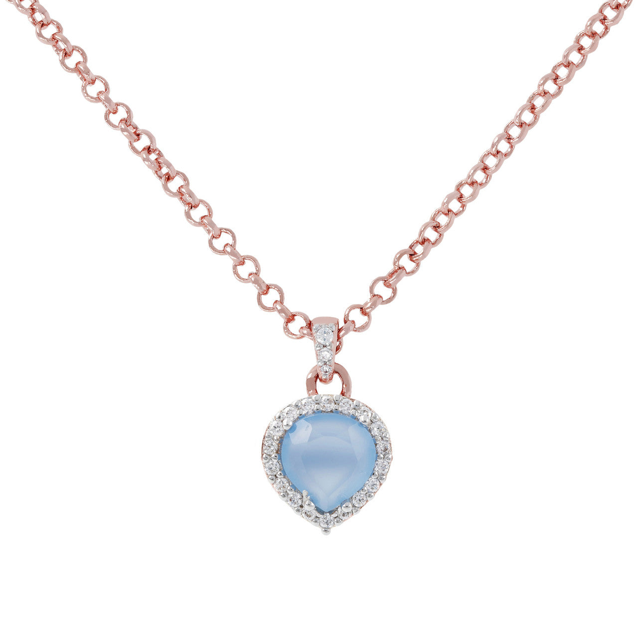 Heart Pendant Necklace CZ