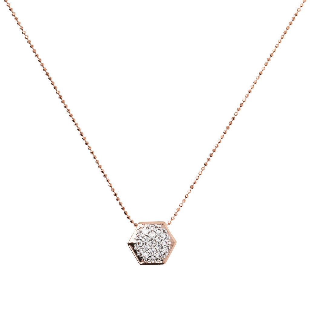 Bronzallure | Necklaces | Hexagon CZ Necklace