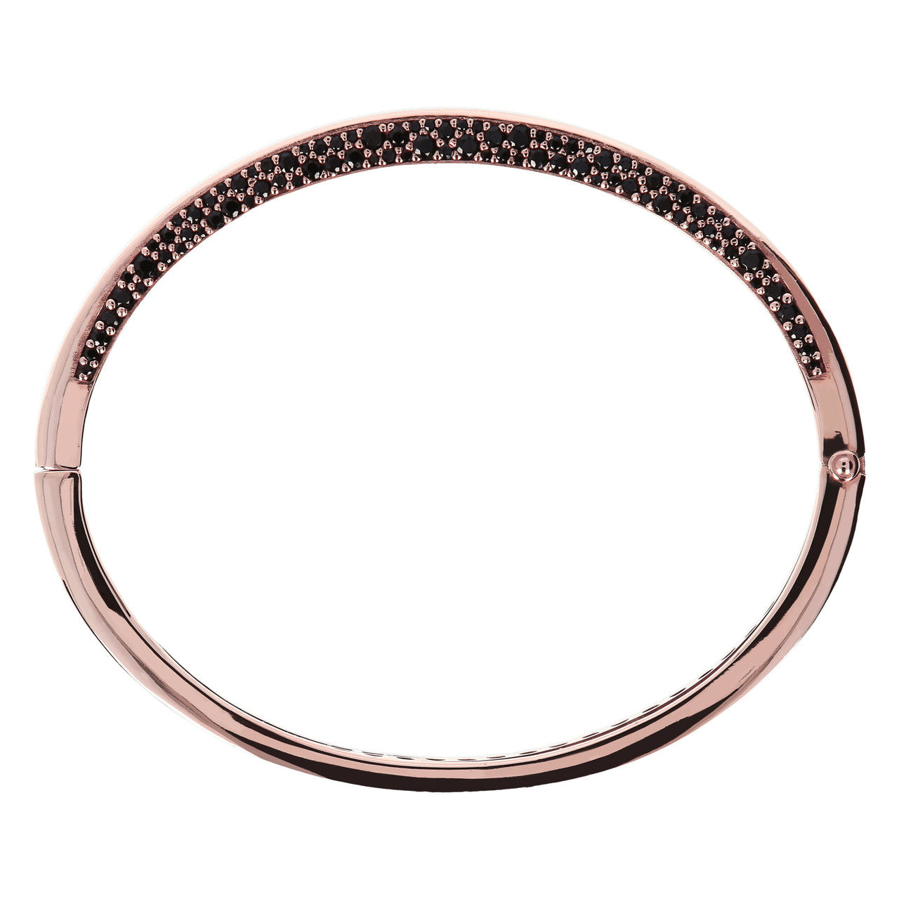 Hinged Pave Bangle  side