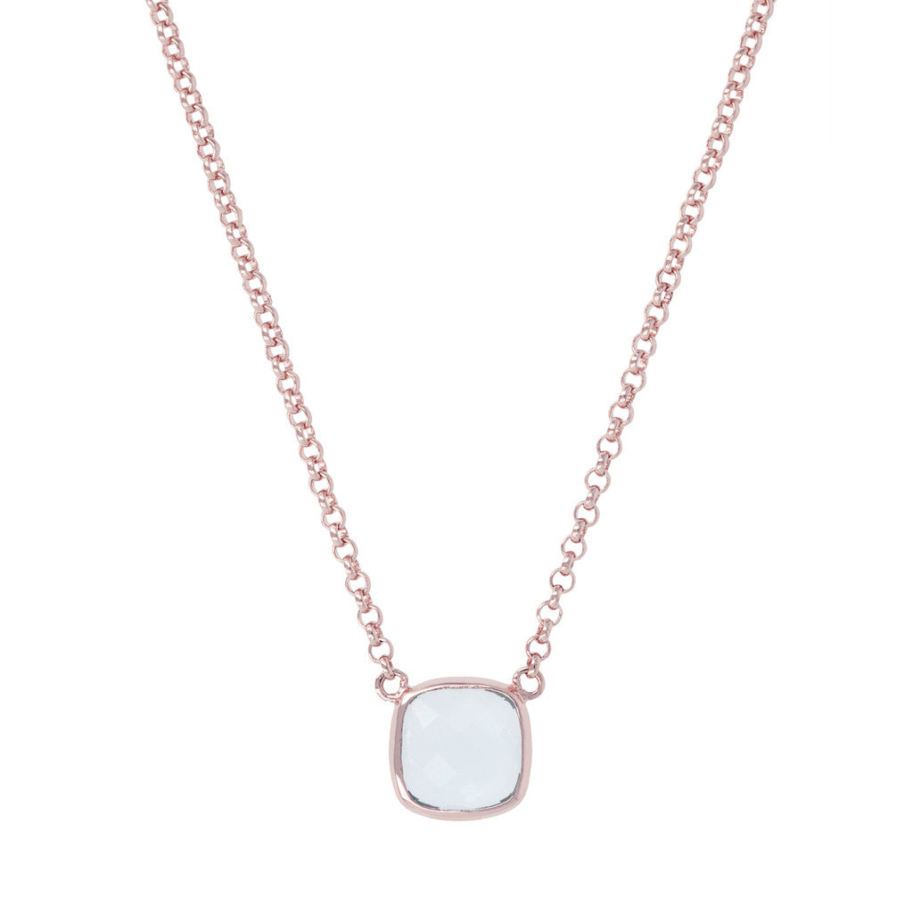 Bronzallure | Necklaces | INCANTO ALBA Charisma Squared Stone Necklace - WSBZ00381BL