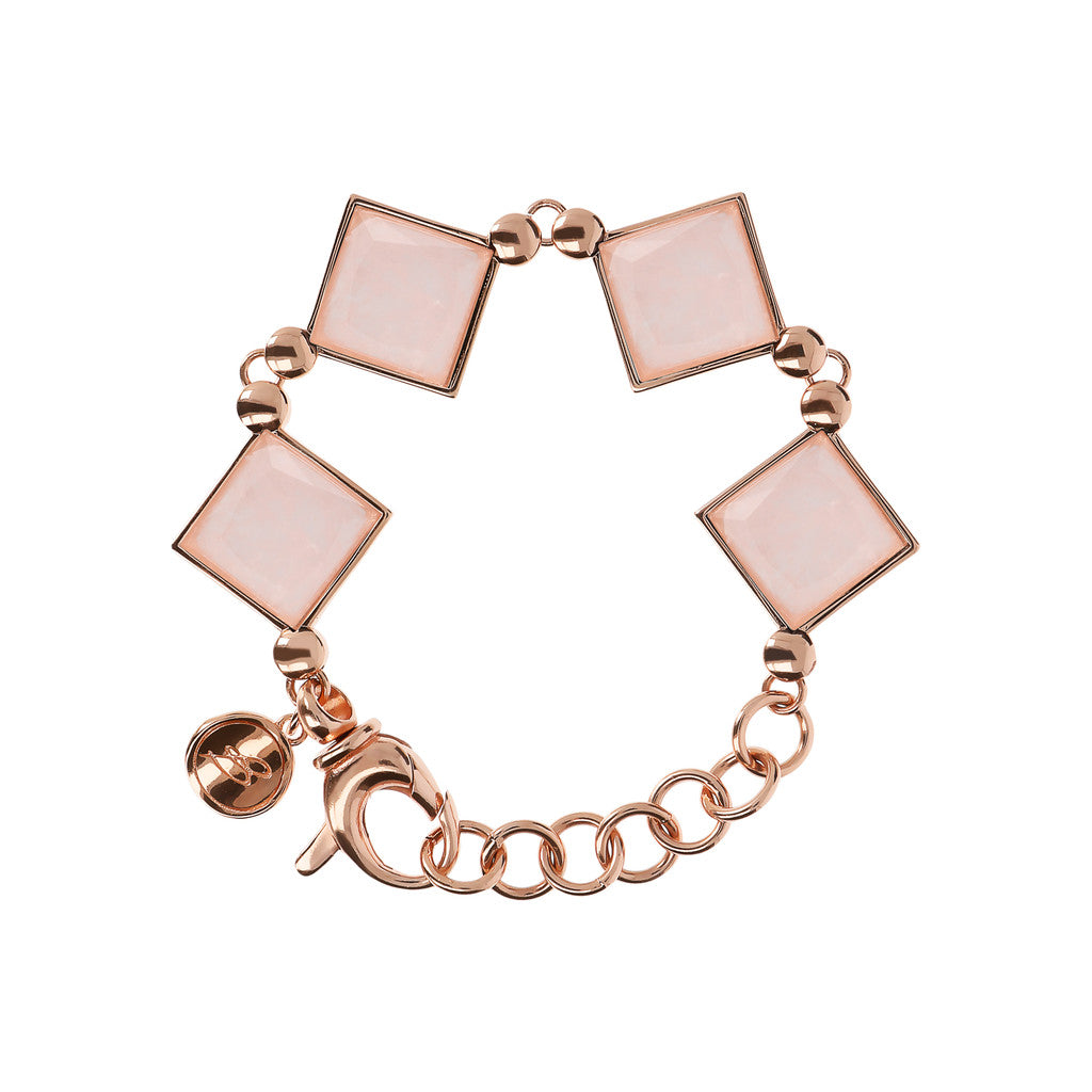 INCANTO GEMSTONE FACETED BRACELET - WSBZ01604 ROSE QUARTZ
