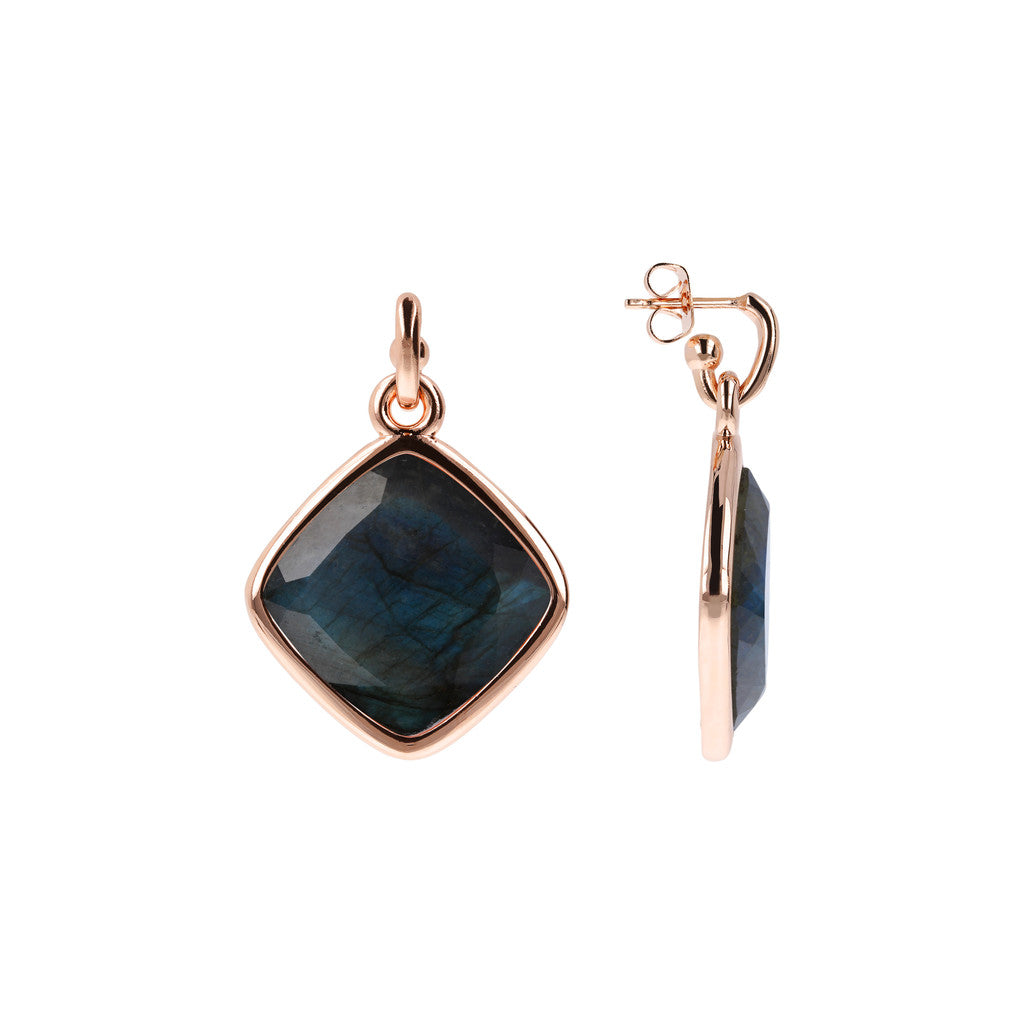 Incanto Rhombus Shape Earrings LABRADORITE front and side