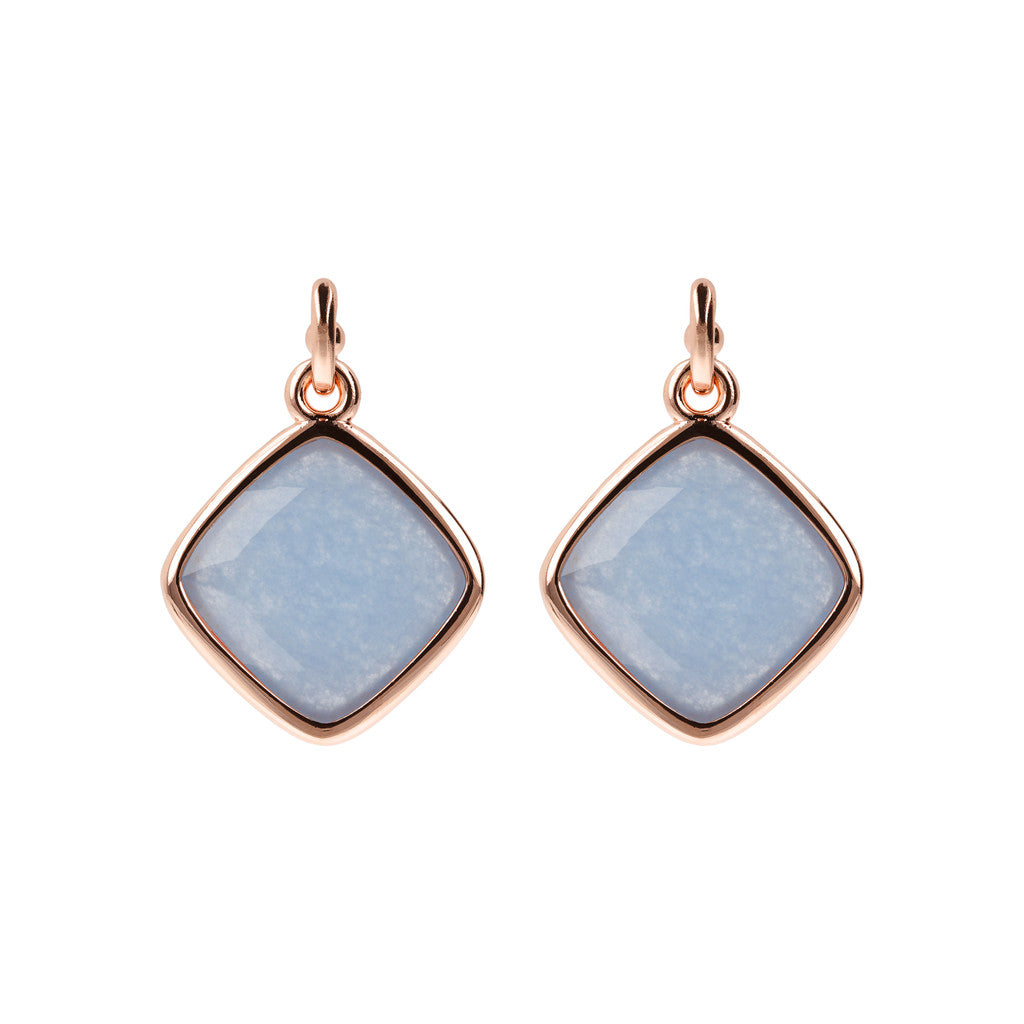 Incanto Rhombus Shape Earrings LIGHT BLUE QUARTZITE