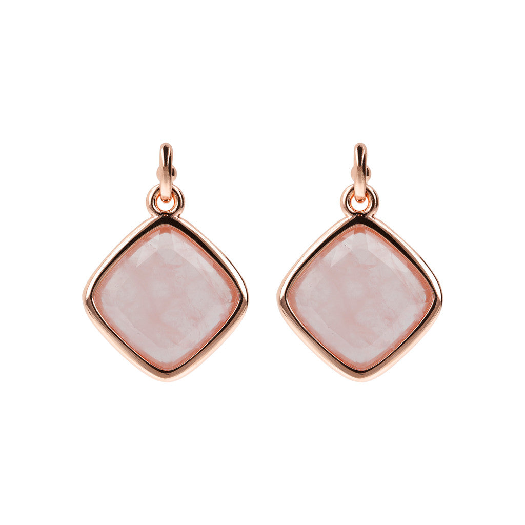 Incanto Rhombus Shape Earrings ROSE QUARTZ