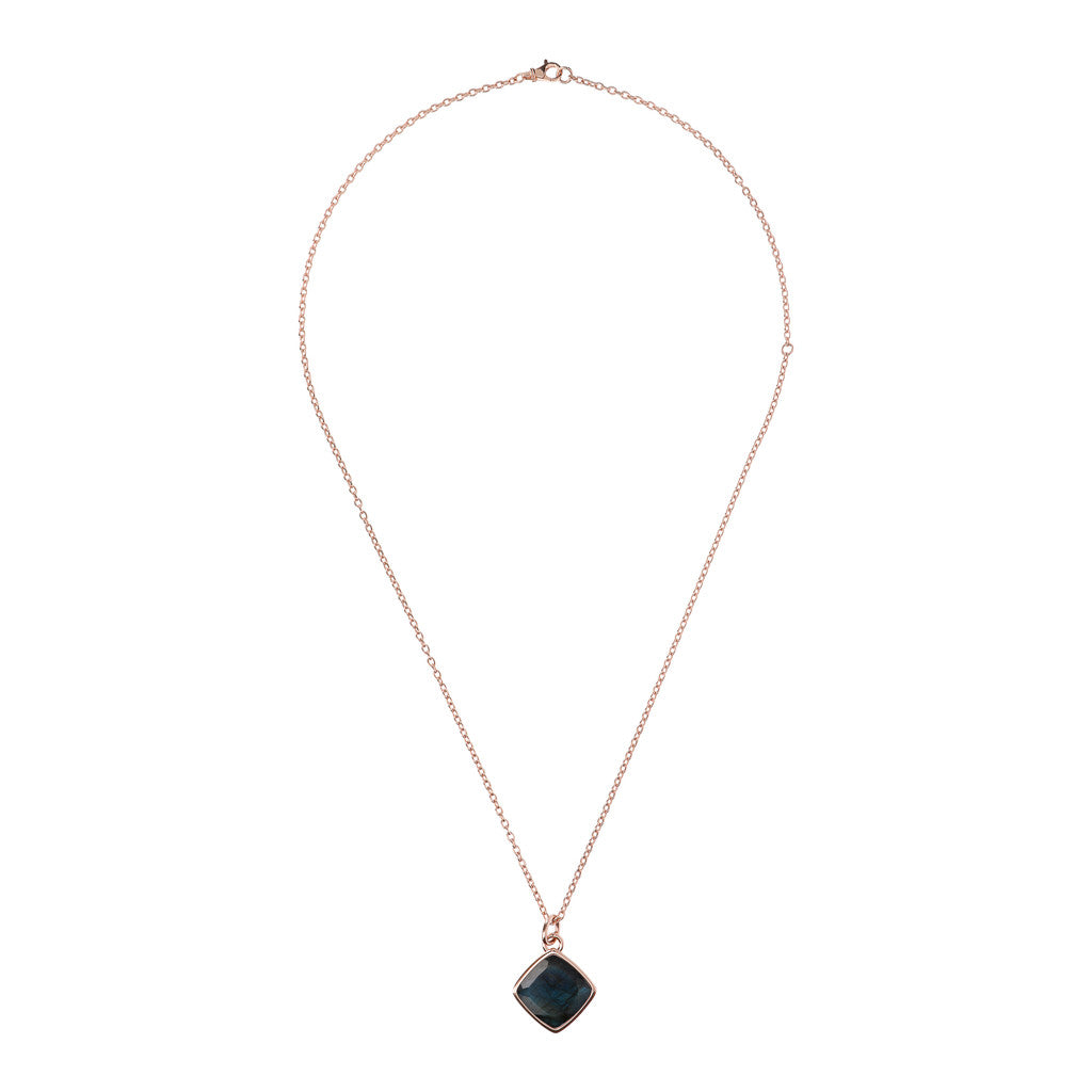 Incanto Rhombus Shape Necklace LABRADORITE from above