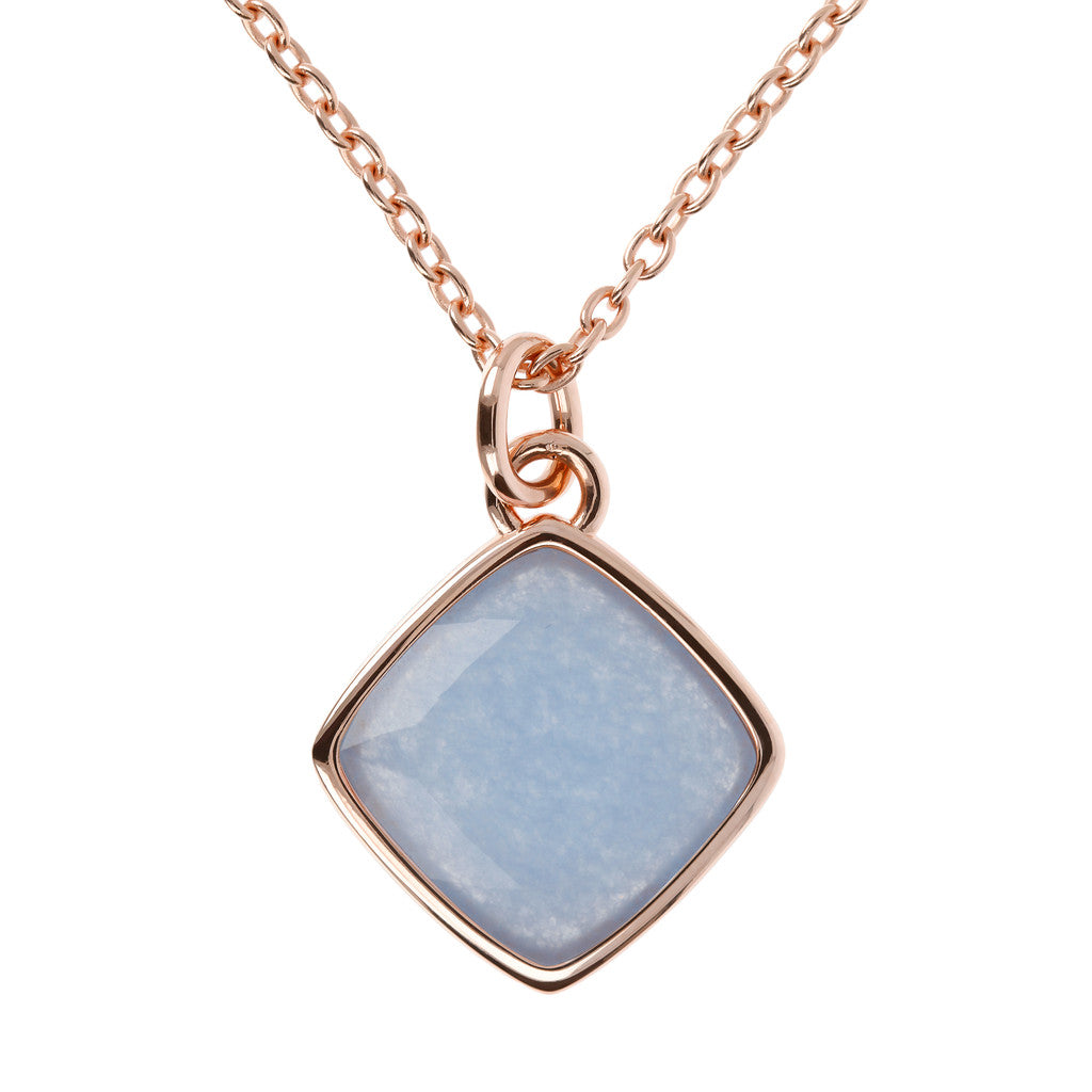 Incanto Rhombus Shape Necklace LIGHT BLUE QUARTZITE