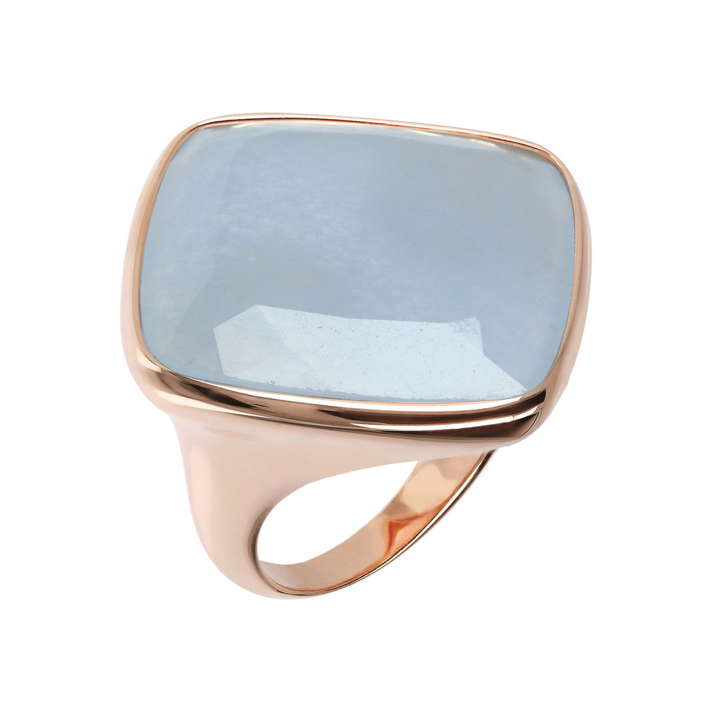 Incanto Rhombus Shape Ring  LIGHT BLUE QUARTZITE