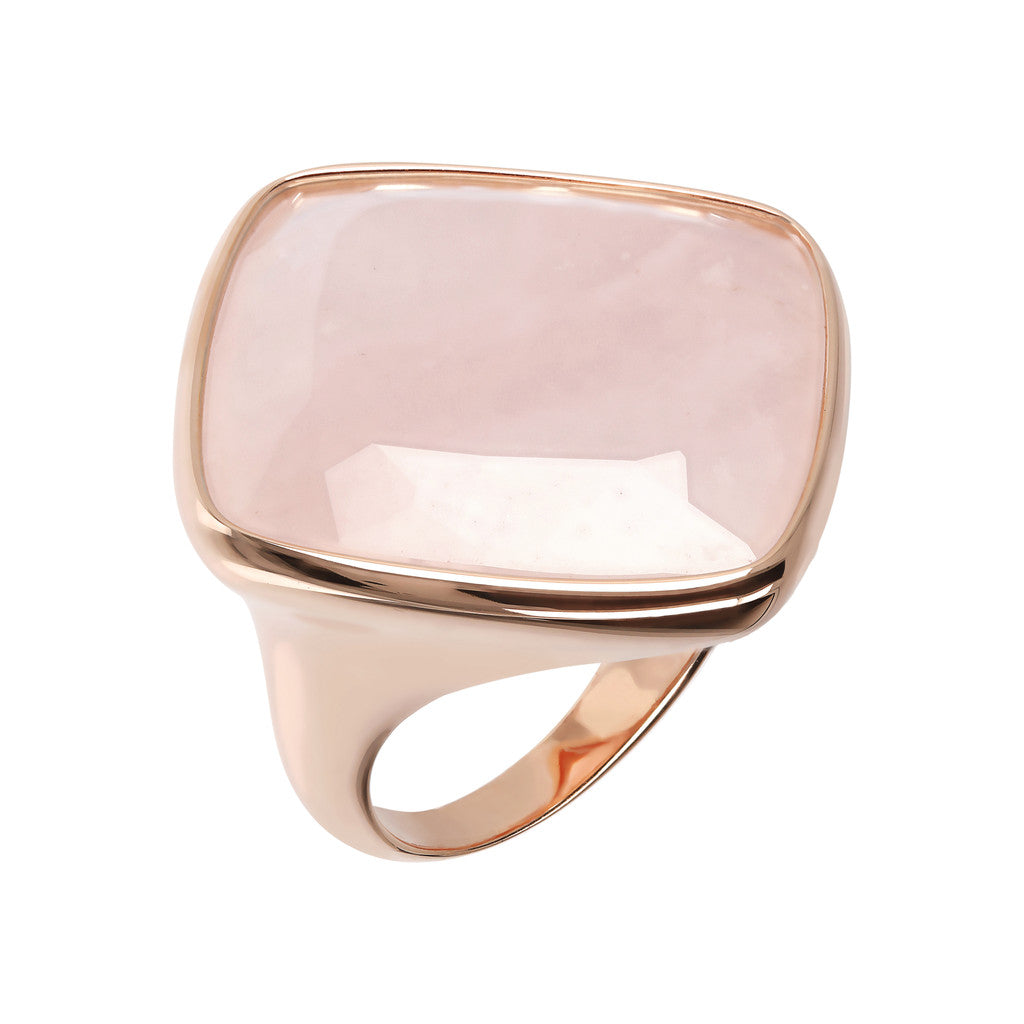 Incanto Rhombus Shape Ring  ROSE QUARTZ