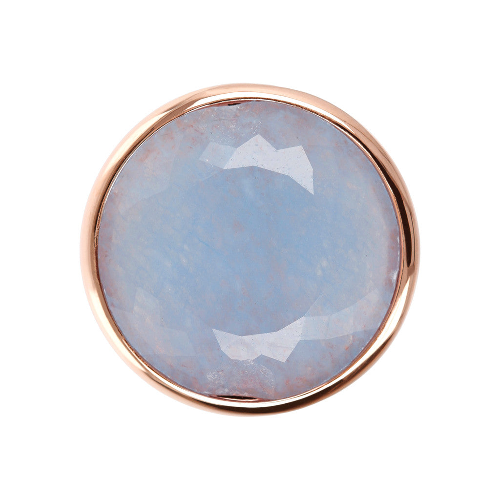 Incanto Round Shape Ring  LIGHT BLUE QUARTZITE setting