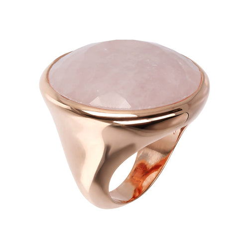 Incanto Round Shape Ring  ROSE QUARTZ