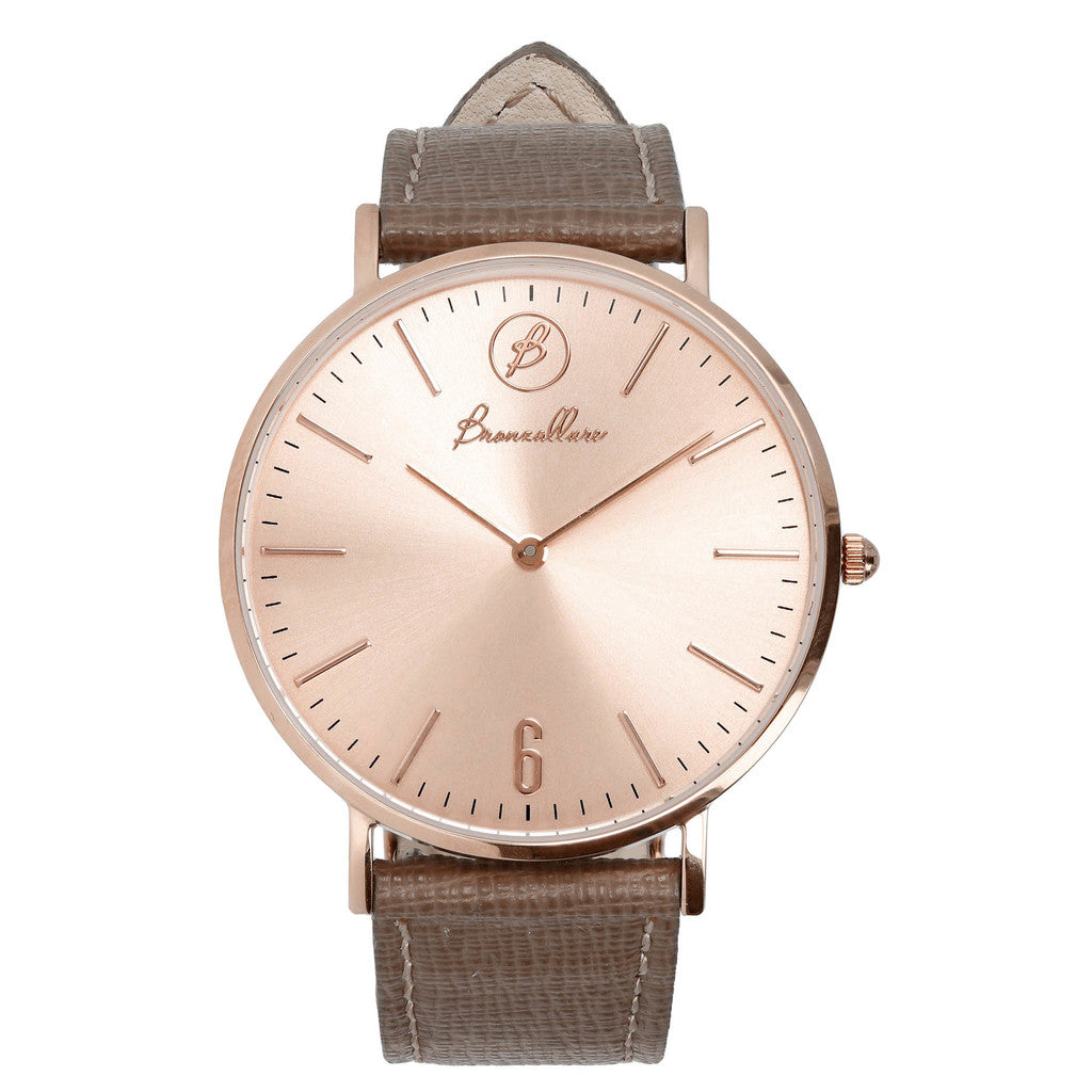 Rose gold watch TORTORA LEATHER