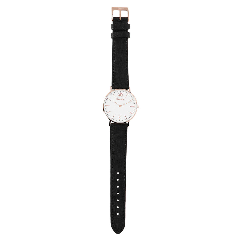 Indici Heritage White Dial BLACK LEATHER bracelet