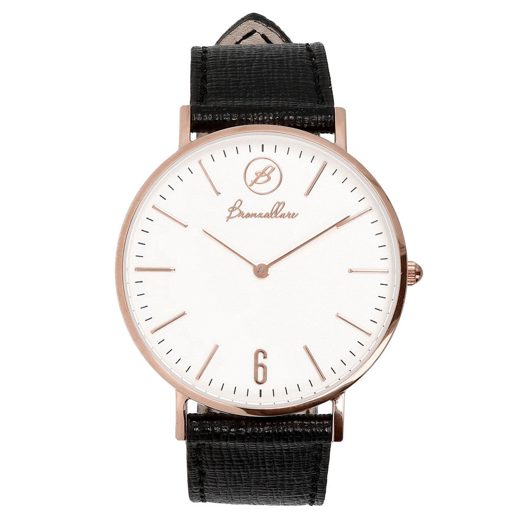 Indici Heritage White Dial BLACK LEATHER