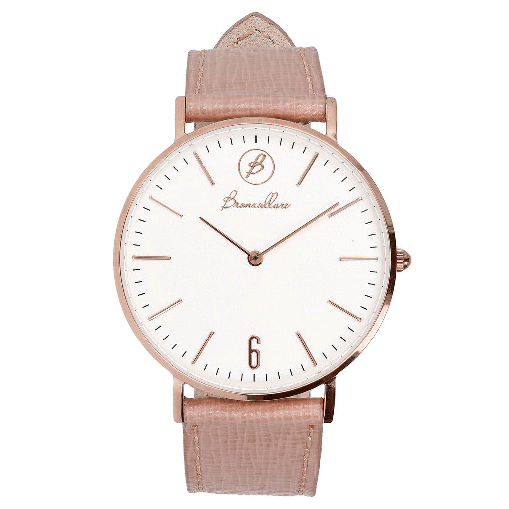 Indici Heritage White Dial ROSE LEATHER