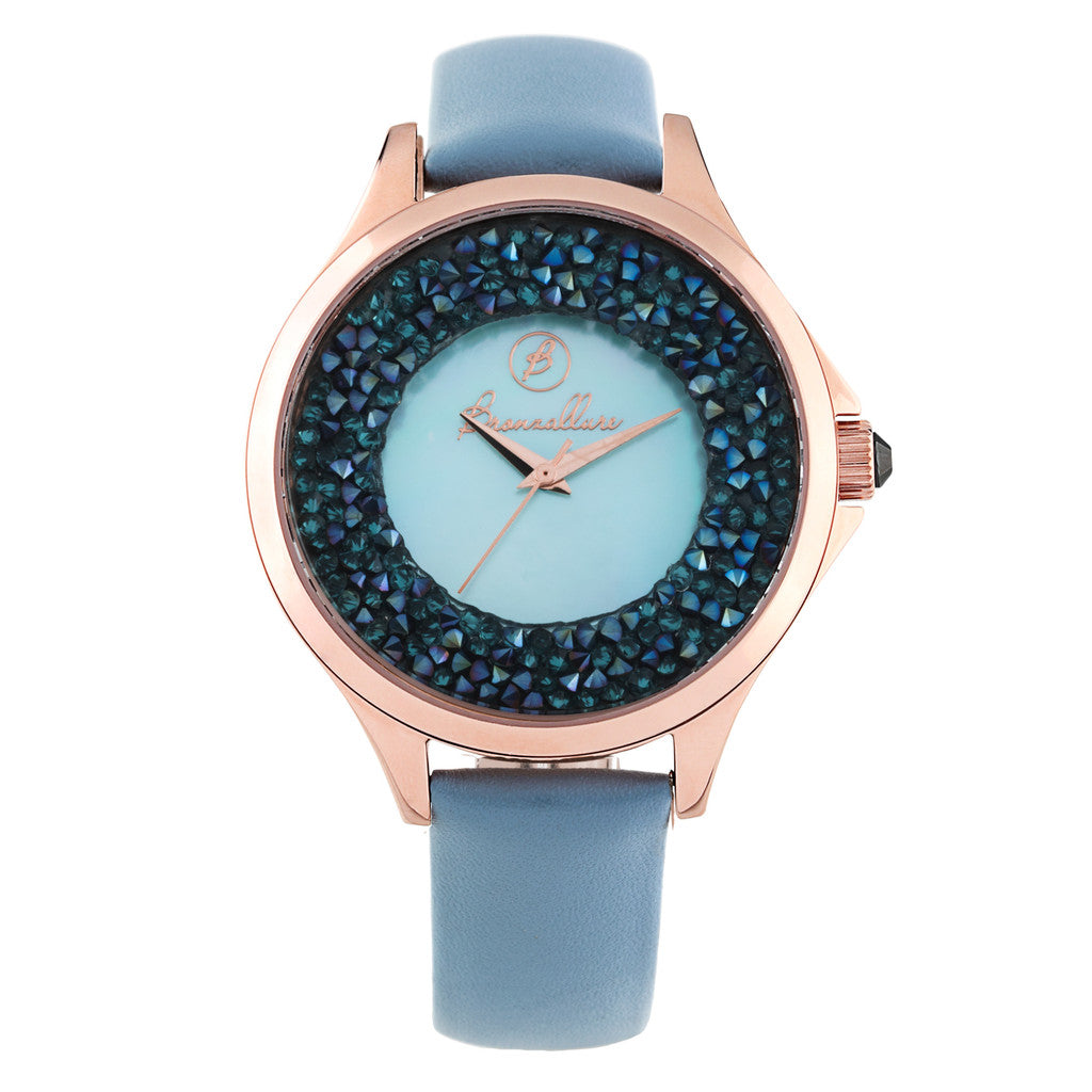Indici Midnight Watch LIGHT BLUE PEARL DIAL-LIGHT BLUE LEATHER